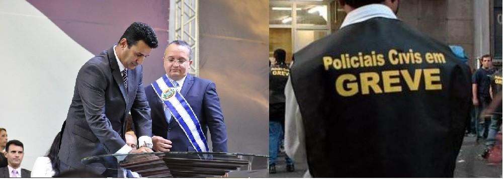 Mauro Zaque e Pedro Taques: na hora de passar do discurso para a prática, novo governo do PDT-PSDB-PSB já enfrenta ameaça de greve dos policiais civis de Mato Grosso
