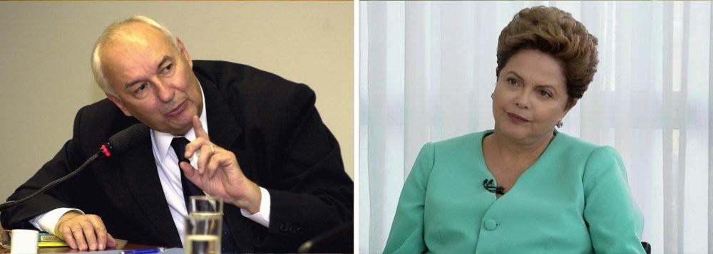 Ives Gandra Martins, jurista, e Dilma Roussef, presidente da República
