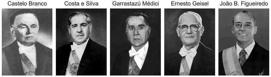 Os generais ditadores do Brasil