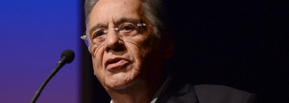 Fernando Henrique, ex-presidente da República, líder maior do tucanato no Brasil