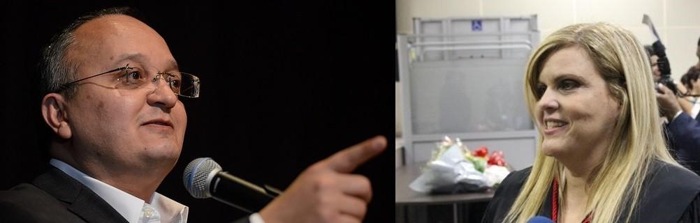O governador Pedro Taques e a desembargadora Nilza Possas de Carvalho, do Tribunal de Justiça; chegou a hora de cumprir a Lei e preservar o direito dos policiais civis de Mato Grosso