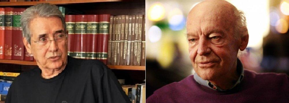 Gabriel Novis Neves, cronista cuiabano, e Eduardo Galeano, escritor uruguaio