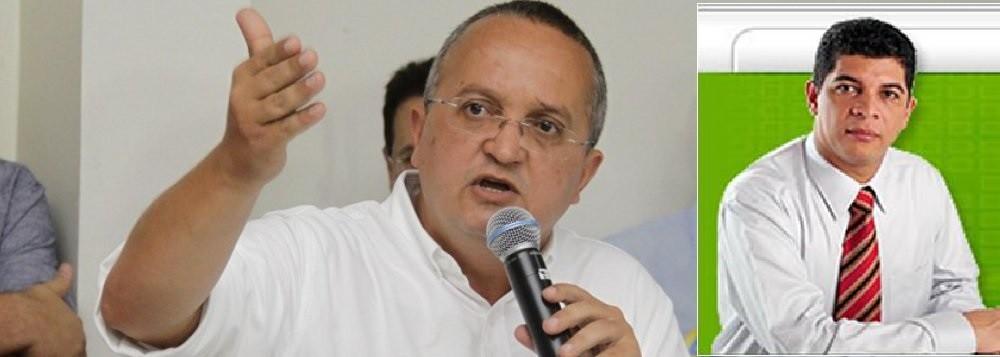 Zé Pedro Taques, governador e Romilson Dourado, jornalista e editor do RD News