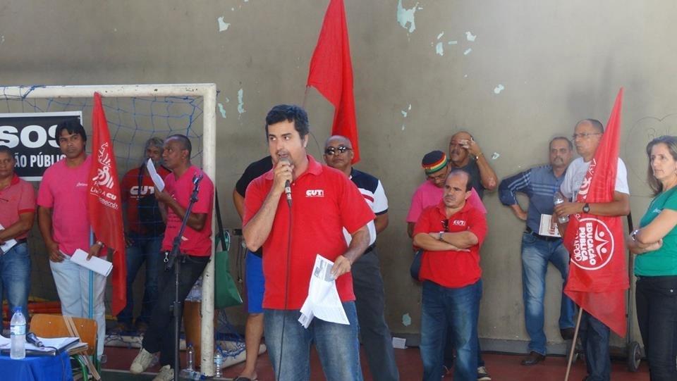 Robinson Ciréia, professor em Cuiabá, foi uma das lideranças do Sintep que encaminhou a proposta de Estado de Greve