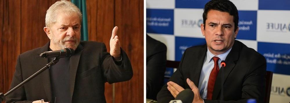 O juiz Sérgio Moro e o presidente Luis Inácio Lula da Silva