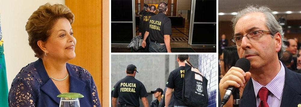 DILMA CUNHA E A PF NA PAGINA DO ENOCK