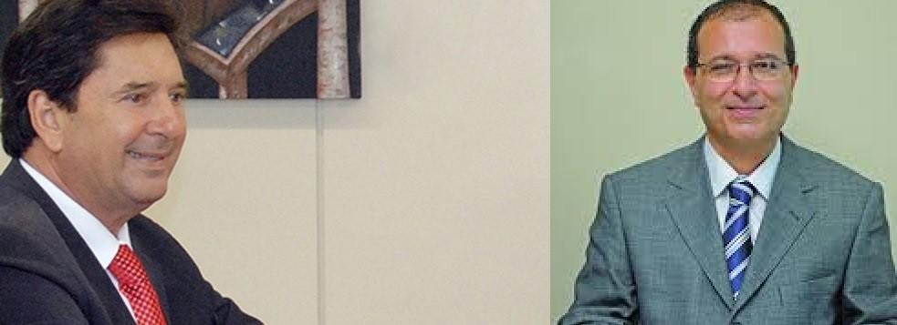 Prefeito Maguito Vilela e o juiz William Safatle