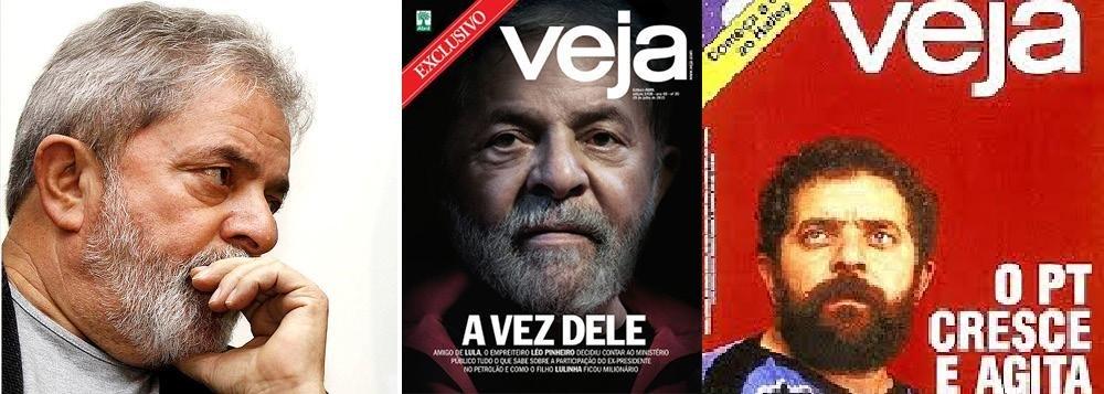 """""""Veja"""", revista líder do PIG, segue com sua campanha contra Lula"""