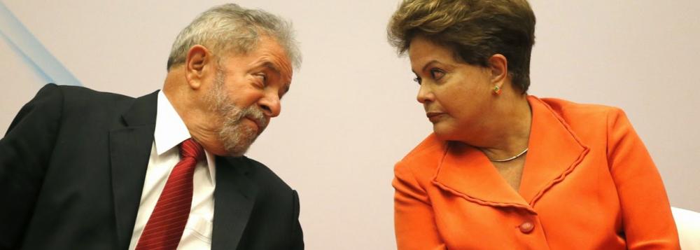 Lula e Dilma, principais lideranças do PT