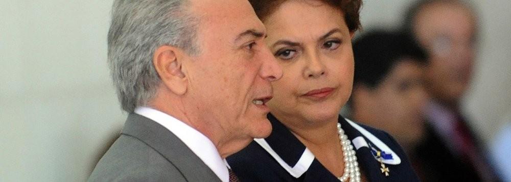 Milton Temer, vice-presidente, e Dilma Roussef, presidenta da Republica