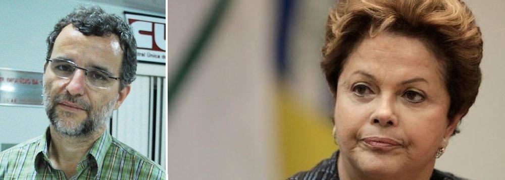 Valter Pomar e Dilma Roussef