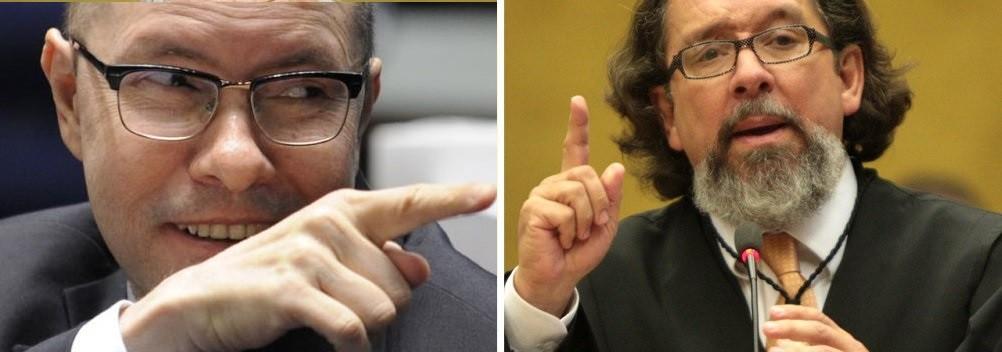 Demóstenes Torres, ex- senador, e Antonio Carlos  de Almeida Castro, Kakay, advogado