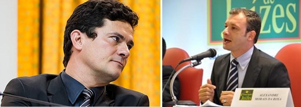 Sérgio Moro, juiz federal no Paraná e professor de Direito da UFPR, e Alexandre Morais da Rosa, juiz federal em Santa Catarina e professor de Direito da UFSC