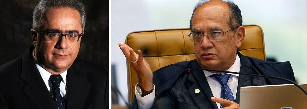 Luis Nassif, jornalista, e Gilmar Mendes, ministro do STF