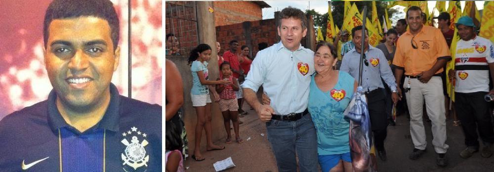 Rafael Costa, jornalista e Mauro Mendes, prefeito de Cuiabá