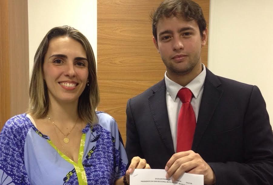 Juliana Errante e Ulysses Moraes, advogados
