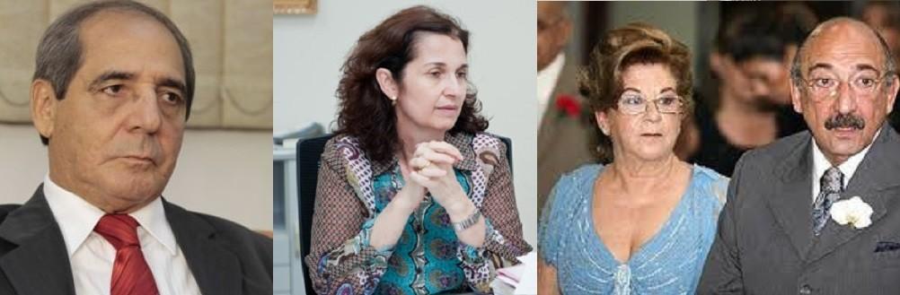 Manoel Ornellas (MOA), Edleuza Zorgetti e Tadeu e Célia Curi. Mais uma vez a venda de sentenças é alvo de apuração no âmbito do Judiciário de Mato Grosso