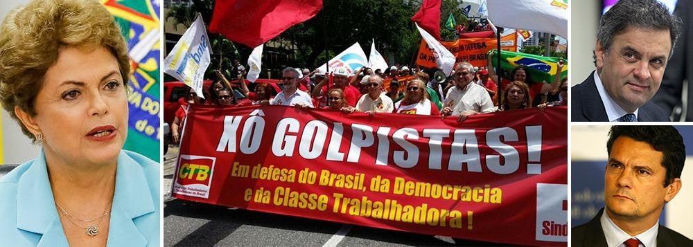 xo golpistas dilma a presidenta da brasil na pagina do E