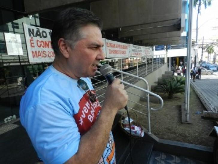 Presidente do Sindicato dos Bancários de Mato Grosso (SEEB-MT), José Maria Guerra