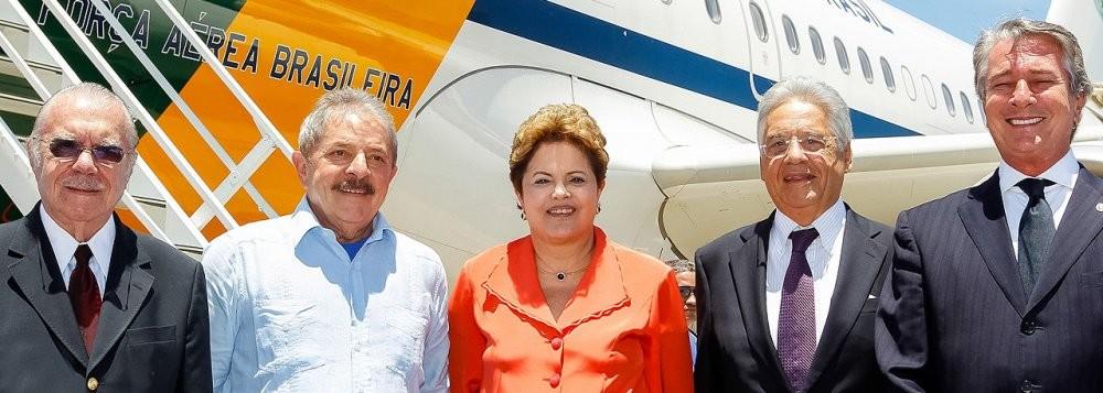 presidenta dilma e os expresidentes na pagina do E
