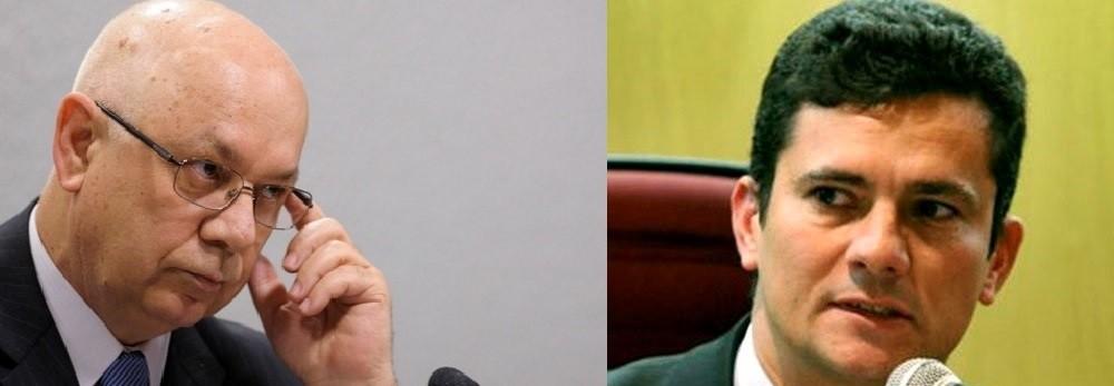 Ministro Teori Zavascki, do Supremo Tribunal Federal e Sérgio Moro, juiz federal no Paraná