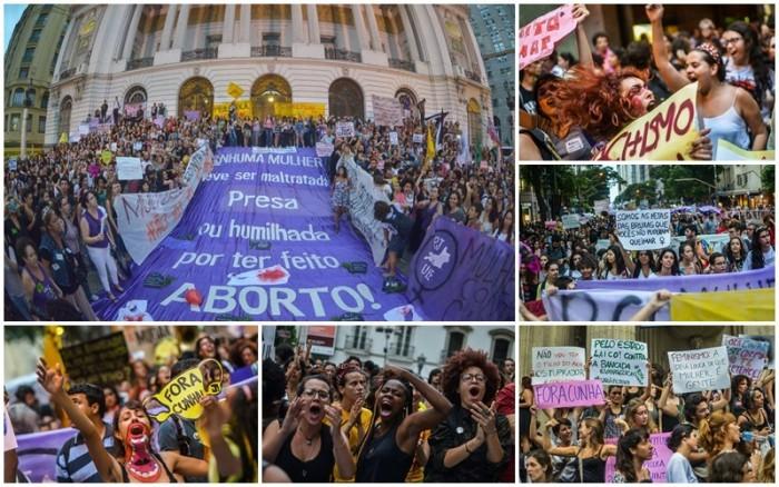 mulheres-na luta em defesa dos seus direitos na pagina do enock