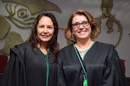Beatriz Theodoro e Eliney Veloso, desembargadoras do TRT de Mato Grosso