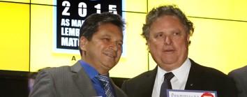 Um dos troféus entregues pelo senador e ex-governador Blairo Maggi