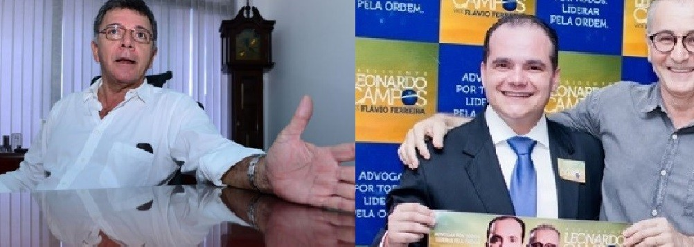 Renato Gomes Nery e os atuais dirigentes da OAB, em Mato Grosso, Leonardo Campos e Flávio Ferreira