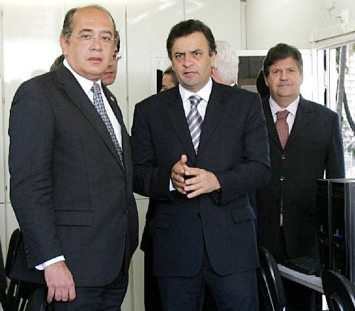 gilmar-mendes-aecio-neves na pagina do e