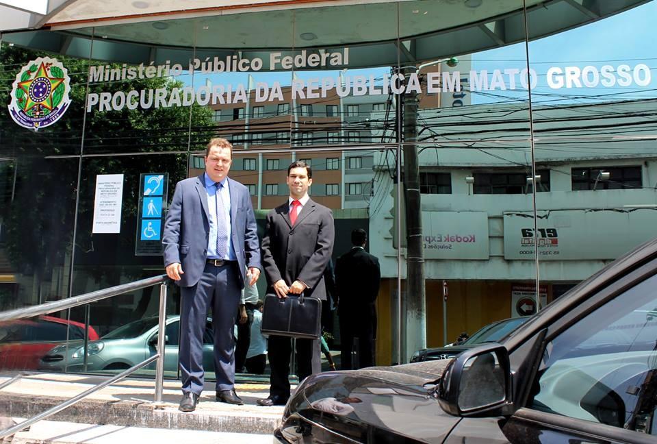 Max Russi na sede do MPF em Cuiabá