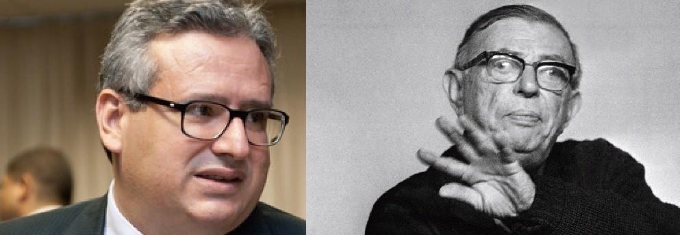 Saíto e o filósofo Jean Paul Sartre