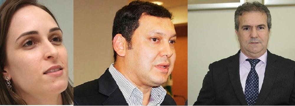 Procuradora da República Vanessa Scarmagnani, promotor de Justiça Marcos Regenold e procurador de Justiça Mauro Viveiros