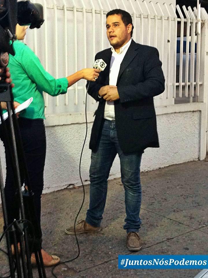 Carlos Rent Jr durante depoimento para a TV Centro América