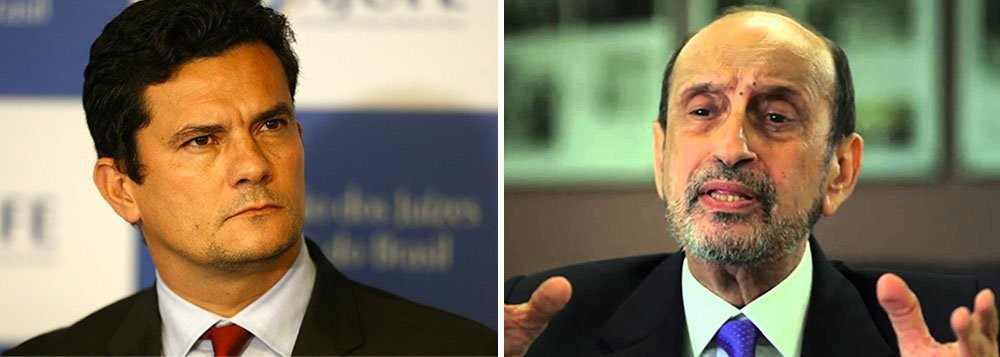 Sérgio Moro, juiz e Gilson Dipp, ex-ministro do STJ e ex-corregedor nacional de Justiça, hoje advogado