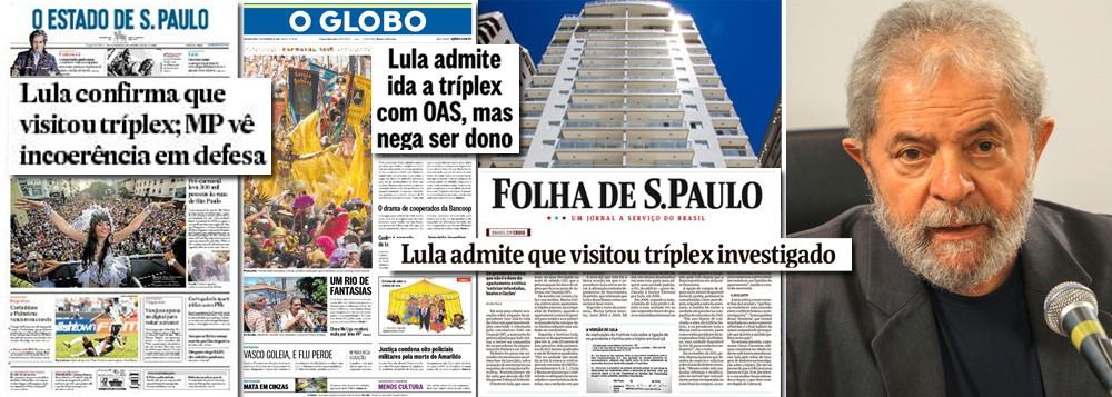 Presidente Lula: alvo preferencial da mídia golpista. O medo é que ele se torne imbatível na disputa pela sucessão de Dilma Roussef, em 2018