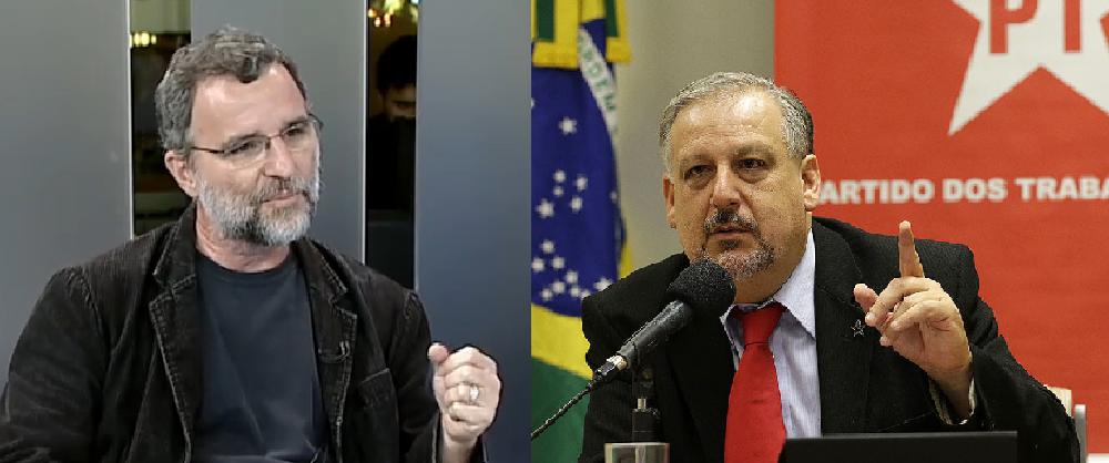 Valter Pomar e Ricardo Berzoini, petistas em confronto de ideias