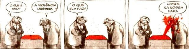 A violência urbana, pelo cartunista Angeli