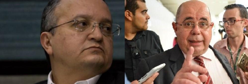 Zé Pedro Taques, ex-procurador da República e atual governador de Mato Grosso e Roberto Tardelli, ex-procurador de Justiça em São Paulo e advogado do ex-secretário de Fazenda de MT, Marcel de Cursi