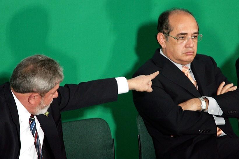 Lula e Gilmar Mendes: disputa antiga