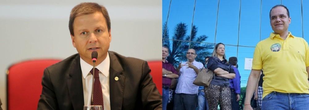 Advogado Claudio Lamachia, presidente nacional e Leonardo Campos, presidente regional da OAB