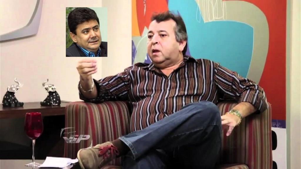 Dorileo Leal, proprietário de A Gazeta, com o ex-secretário de Fazenda de Mato Grosso Éder Moraes, no detalhe