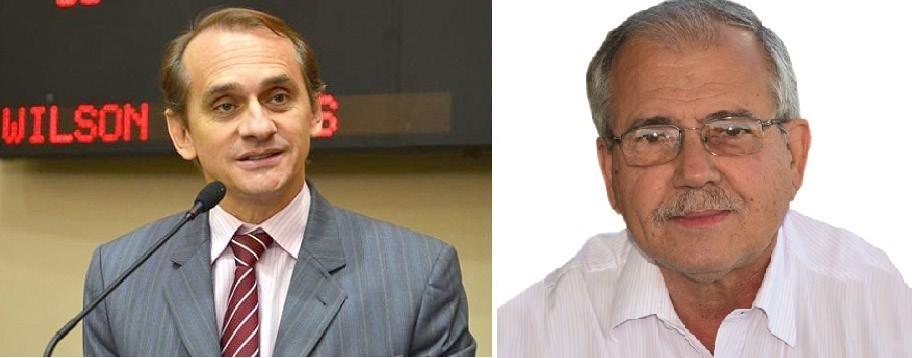 Wilson Santos, deputado estadual e Eduardo Gomes, jornalista