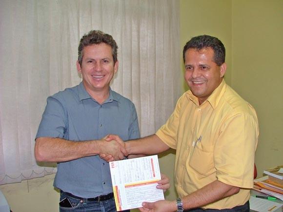 Mauro Mendes e Valtenir, no tempo em que estavam juntos no PSB