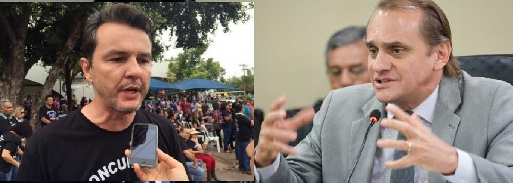 Oscarlino Alves e Wilson Santos: confronto agora na Justiça