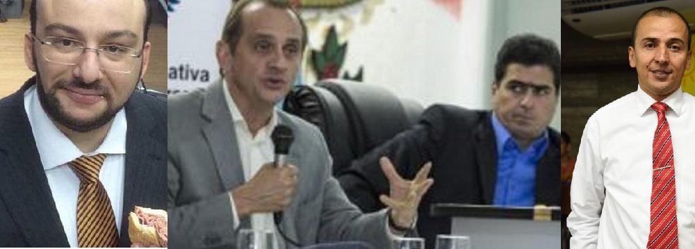 Eduardo Mahon, Wilson Santos, Emanuel Pinheiro e Mauro Lara