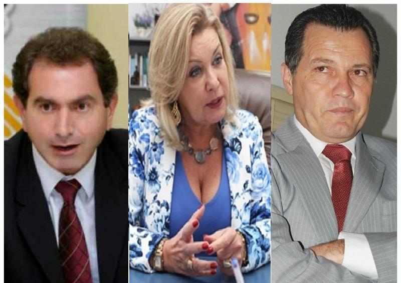 Pedro Nadaf, Selma Arruda e Silval Barbosa