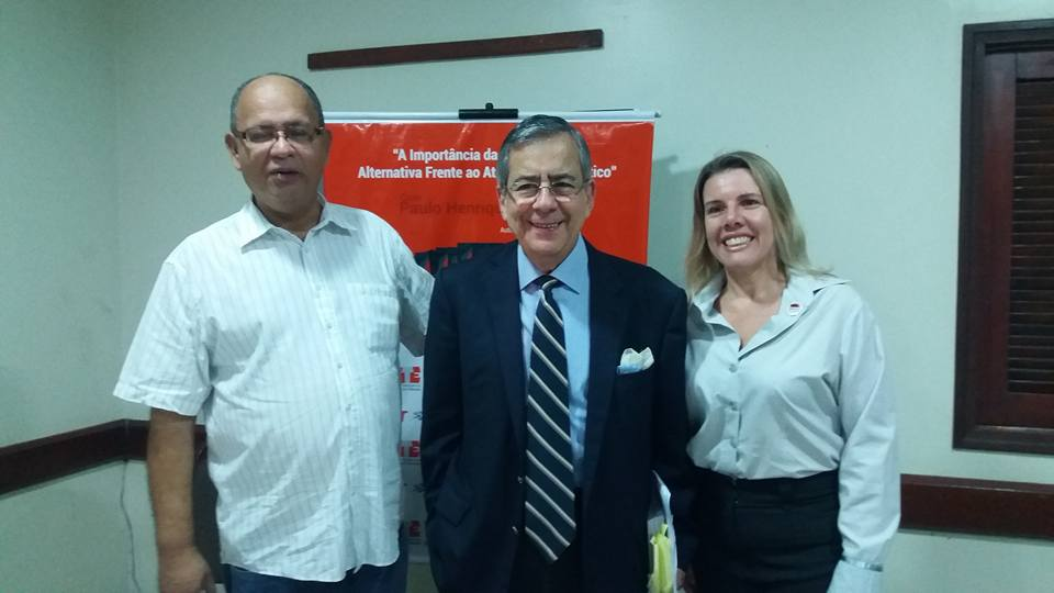 Paulo Henrique Amorim com Enock Cavalcanti e Roseli Reichelmann